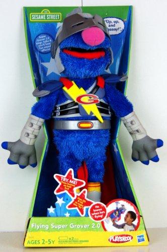 Playskool - Sesame Street - Super Grover 2.0 volant - il chante et parle - 39995