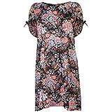 NVME Mujer Aria Vestido Casual Estampado Floral Cuello Alto Multicolour 6XL