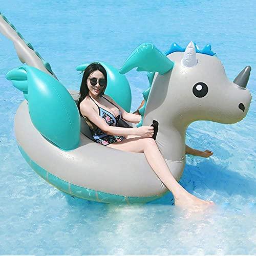 Gcxzb Schwimmreifen Schwimmanhänger Schwimmen Ring Erwachsene Schwimmbett Aufblasbare Urlaub Wasser Spielzeug Elternkind Interaktion