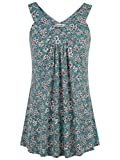 Tencole Dressy Tank Tops for Women, Womens Summer Loose Pleated Camisole Elasticity Flowy Bottom Wardrobe Tailored Cotton Office Blouses Sweatheart Neck Sleeveless Duster Vest Long Tunic Shirts