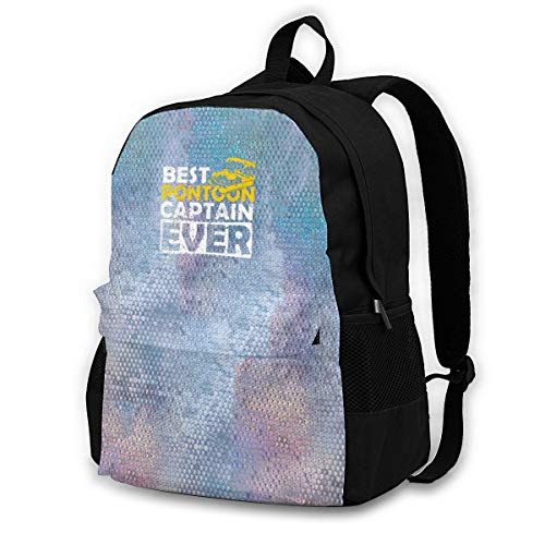 Travel Backpack Laptop Backpack Diaper Bag - Best Pontoon Captain Ever Backpack School Backpack for Women Men