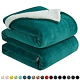 """Walensee Sherpa Fleece Blanket (Queen Size 90""""x90"""" Emerald Green) Plush Throw Fuzzy Super Soft Reversible Microfiber Flannel Blankets For Couch, Bed, Sofa Ultra Luxurious Warm and Cozy For All Seasons"""