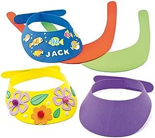 Baker Ross Ltd Foam Sun Visors (Pack of 10) for Kids to Decorate