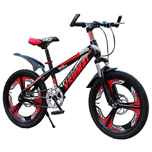 Bicicletas Triciclos Niño Roja Scooter De Verano para Niños Adecuado Niños Estudiante De 6-15 Años 18/20 Montaña (Color : Red, Size : 18inch)