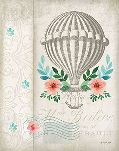 Posterazzi French Hot Air Balloon Poster Print by Jennifer Pugh, (22 x 28)