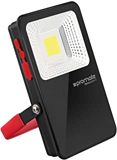 Promate LED Flood Light, Ultra-Bright Wireless LED Flood Light with 5400mAh Rechargeable Power Bank with IP54 Water and Du...