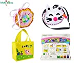Sewing Kit for Kids Beginners 3 Pack Girls Sewing Project Pattern Bag Handbag by MeMo Toys (Set1) (Office Product)