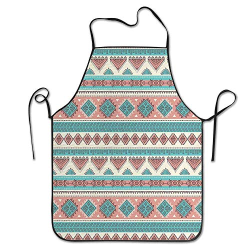 N\A Vintage Design Native Style géométrique Triangles Tablier Cuisine Femme/Homme Tablier Confortable Parfait pour Le Guide de Cuisine
