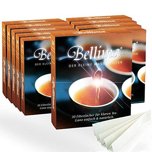 sanquell Bellima Teefilter, klarer Tee und feinster Teegenuss auch bei hartem Wasser, 10 Pakete je 30 Stück (entspricht ca. 300 Liter Teewasser)