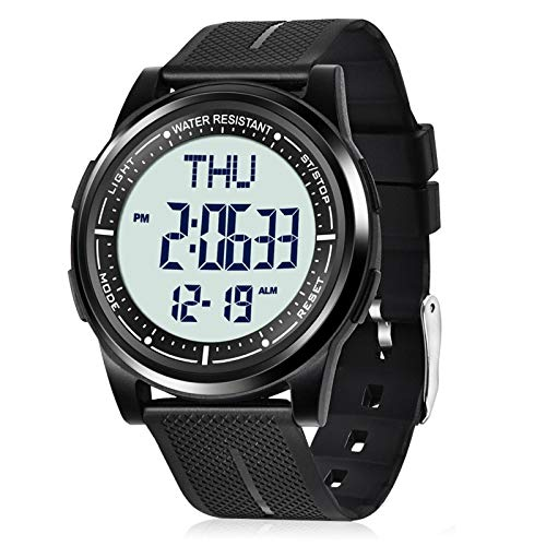 Beeasy Mens Digital Watch Waterproof with Alarm Stopwatch ...