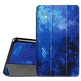 Fintie Hülle für Samsung Galaxy Tab A 7.0 Zoll SM-T280 / SM-T285 Tablet (2016 Version) - Ultra Schlank Superleicht Ständer Slim Shell Hülle Cover Schutzhülle Etui Tasche, Sternenhimmel