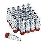 SUNGATOR 1/4-Inch NPT Male Industrial Air Plug, Pneumatic Plugs (25-Pack)