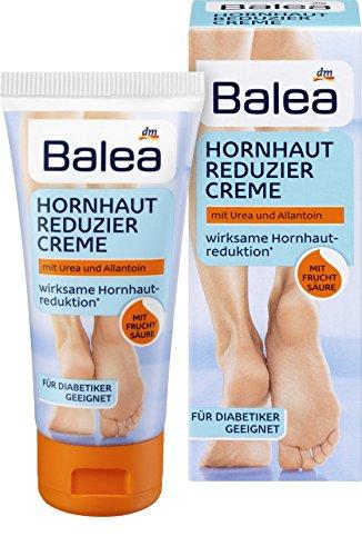 Balea Hornhaut Reduzier Creme mit Urea & Allantoin für Diabetiker Geeignet, 50 ml