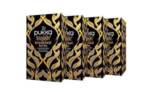 Pukka Bio-Tee Beautiful English Breakfast 80 Teebeutel, 4er Pack (4 x 20 beutel)