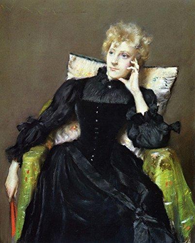 Het Museum Outlet - Zittende Vrouw in Zwarte Jurk, 1890 - Poster Print Online Kopen (60 X 80 Inch)
