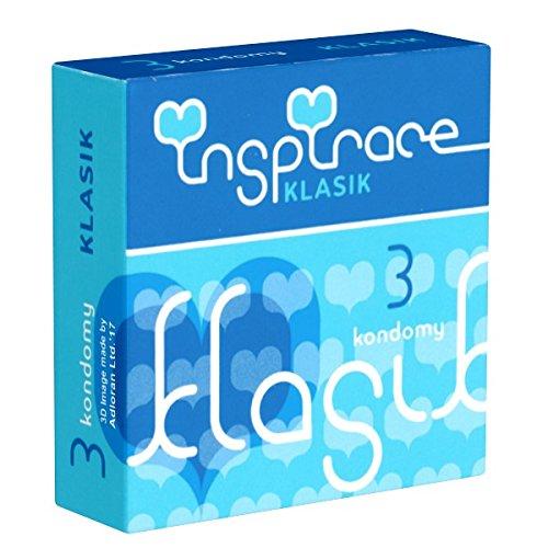 Inspirace Klasik, 3 klassieke condooms gemaakt van latex, standaard maat, bevochtigd