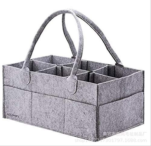 Opbergtas van vilt luiertas gemaakt van vilt voor moeders, make-up tas van vilt,  Metálico (grijs) - 664536533