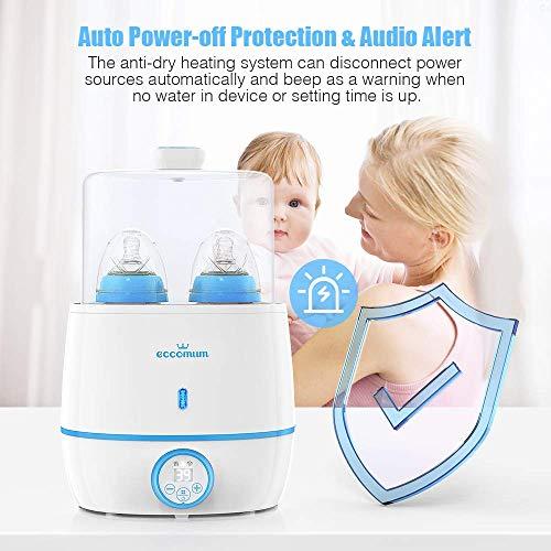 Calienta Biberones Eccomum 6 en 1 Esterilizador Biberones Calentador de Alimentos para bebés, con Pantalla LCD, Control Preciso de Temperatura, Modo Constante, Apto Todos Los Biberones