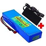 48v E-Bike Batería de Iones de Litio 13s4p 14ah 500w Batería de Alta Potencia 54.6v 14000mah 18650 Paquete de batería de Litio Ebike Bicicleta eléctrica Bicicleta con Cargador BMS +