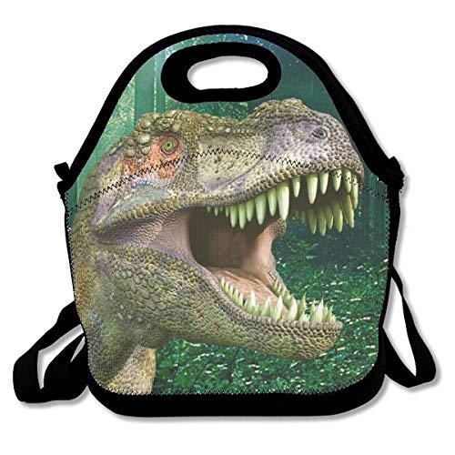 SARA NELL Neoprene Fierce Dinosaur Lunch Bag Insulated Animal Lunch Backpack Lunchbox Handbag with Adjustable Shoulder Strap Best Gift for Men Women Teen Boys Girls