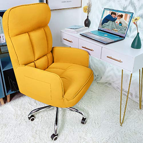 Fubas- Home Office Chair Ergonomic Desk Chair, Upholstered Leather High-Back Reclining Chair, Adjustable Height, Swivel Chair with Casters-Color Optional
