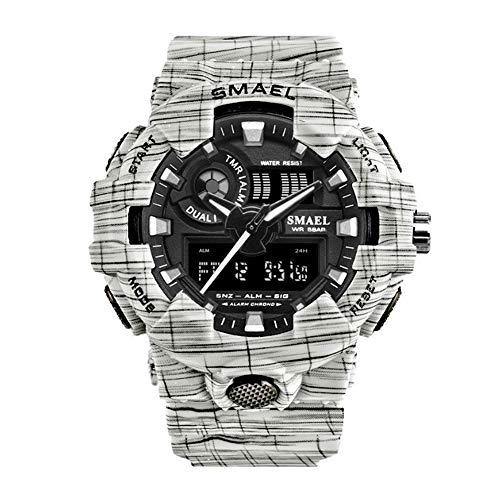Mabor Reloj inteligente deportivo inteligente reloj de moda multifuncional portátil resistente al agua cronógrafo luz trasera reloj despertador podómetro reloj a prueba de golpes