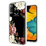 Ueokeird Galaxy A30 Case, Galaxy A20 Phone Case with Flowers, Slim Shockproof Clear Floral Pattern Soft Flexible TPU Back Phone Cover for Samsung Galaxy A30/A20 (Blossom Flower)