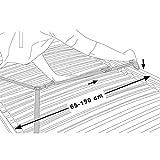 Froggy Bettgitter EXTRA HOCH 180 x 52 cm Verwendung mit Boxspringbett möglich Bettschutzgitter Kinderbettgitter Babybettgitter Gitter Kinderbett Fallschutz Bett Darkgray - 6