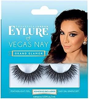 Eylure Vegas Nay False Eyelashes, Reusable, Adhesive Included, 1 Pair, Cruelty Free