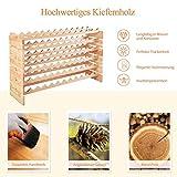 COSTWAY Weinregal Holz, Weinständer für 72 Flaschen, Flaschenregal 6 Höhe zur Auswahl, Holzregal stabil, Weinschrank Flaschenständer - 5