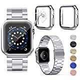 OMEE Compatible avec Apple Watch Band 40 mm avec 2 boîtiers, bracelet en acier inoxydable de...