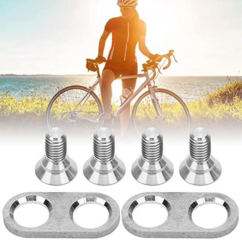 Dpofirs Tornillos para calas para Pedales de Ciclismo, Kits de calas para Bicicletas de Repuesto, Tornillos y Arandelas de Montaje para Ciclismo de aleación de Titanio para Ciclismo Ligero