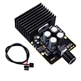 Amplifier Board, DROK Audio Amplify Module Dual Channel 30W+30W TDA7377 pro2 DC 9-18V 12V Class AB Immersion Gold Car Automotive Stereo Speaker Amp Board with Knob and Shielded Cable