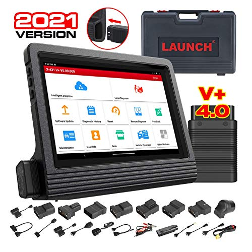 LAUNCH X431 V+ PRO 4.0 (2021 Upgraded of X431 PROS V4.0) ECU Coding Bi-Directional Diagnostic Scanner, OE-Level Scan Tool, 31+ Service, AutoAuth for FCA SGW, VAG Guided Functions, Free Update