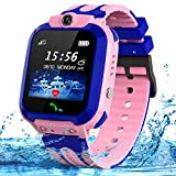 SZBXD Kids Smart Watches Phone, GPS Tracker Touch Screen Flashlight SOS Camera Clock Voice Chat Smartwatch - Boys Girls Christmas Birthday Gift (Pink)