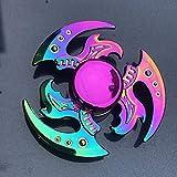 SHEANAON Colorido aleación de Metal Fidget Spinner rodamiento Suave Mute Rainbow Hand Spinner Juguetes para aliviar el estrés para niños Regalos para Adultos