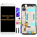 Para Huawei Ascend G7 Pantalla LCD G7-L01 G7-UL20 G7-TL00 Pantalla de repuesto Asmebly G7-L03 G7-L11 Sensor de pantalla táctil digitalizador (negro con marco)