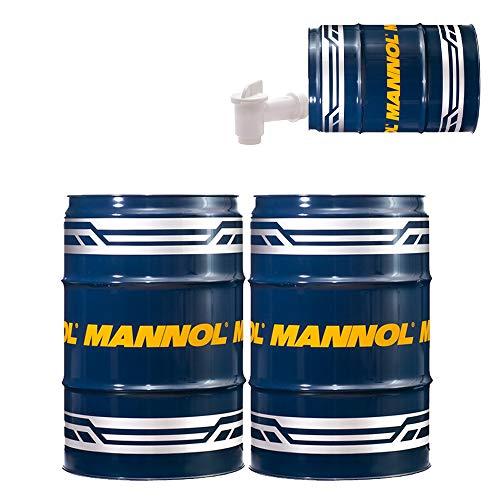 MANNOL 2 x 60 Liter Garagenfass + Auslaufhahn Universal Getriebeoel 80W-90 API GL 4
