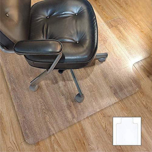 Office Chair Mat for Hardwood Floor with 35''×47'',Tile Floor Protector PVC Transparent,Heavy Duty Clear Wood,Polyethylene Hard Floor Mat for Computer Desk
