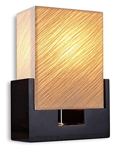 levandeo Nacht-Tischlampe Lampe weiß aus hangeschöpftem Papier mit schwarzen Fuß - Leuchte Beleuchtung Licht 20x30x10cm