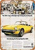 1971 Triumph Spitfire 1500 Carteles de metal vintage Carteles de chapa retro Cartel Placa Decoración de pared Bar Casa Garaje Taller al aire libre 8 × 12 pulgadas