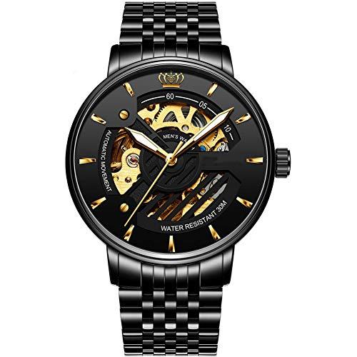 Nieuwe Mechanische Herenhorloges, Stalen Herenhorloges Met Holle Horloges, Waterdichte Herenhorloges,A