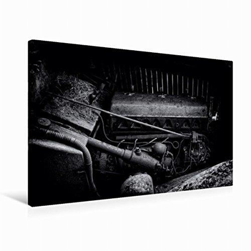 CALVENDO Premium Textil-Leinwand 75 cm x 50 cm quer, Motor | Wandbild, Bild auf Keilrahmen, Fertigbild auf echter Leinwand, Leinwanddruck: Motor eines Alvis Technologie Technologie