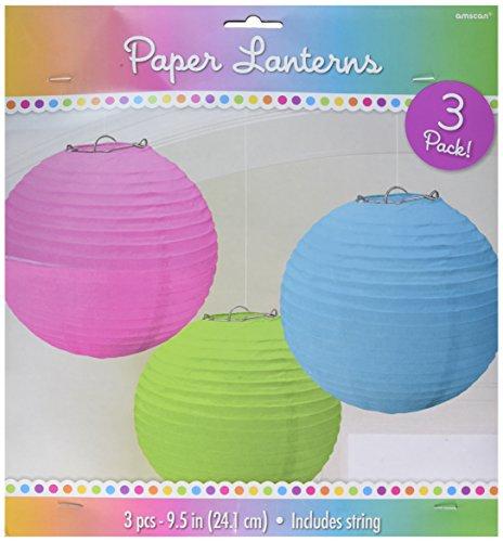 amscan 3 lanternes Assorties - Taille Unique