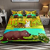 Juego de 2 fundas de edredón de microfibra suave con fundas de almohada para niños, niñas y hombres (sin edredón)