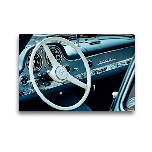 CALVENDO Premium Textil-Leinwand 45 x 30 cm Quer-Format Mercedes Benz 300 SL Flügeltürer, 1955, 2996 CCM, 215 PS, 250 km/h, Leinwanddruck von Dieter Meyer