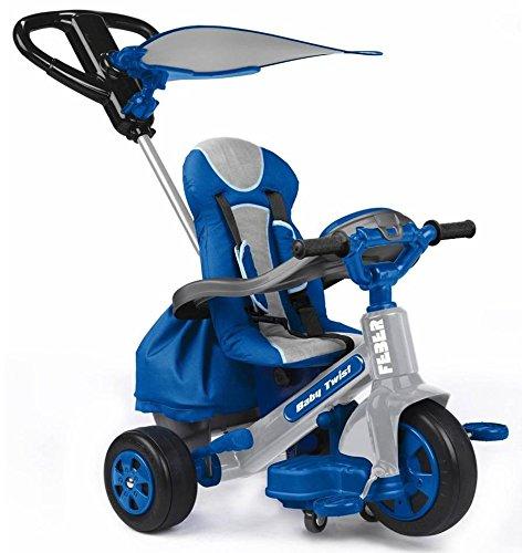 FEBER Triciclo Baby Twist Boy RAGAZZO CON MANIGLIONE verwandelbar