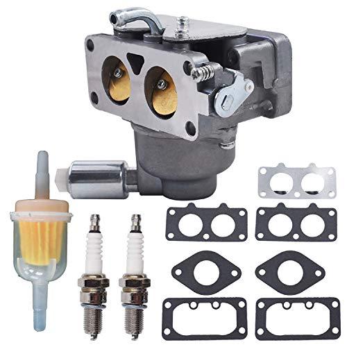 AISENPARTS Rasenmähervergaser mit Magnetventil 799230 Ersatz für John Deere L111 L118 L120 LA120 LA130 LA135 LA140 LA145 LA150 Briggs Stratton 791230 799230 699709 499804