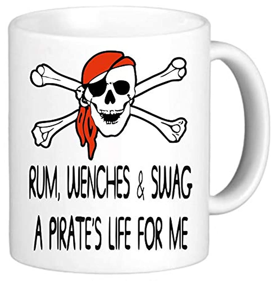 Rum Wenches & Swag Pirate Funny Mug Novelty Cup Office Gift Secret Santa