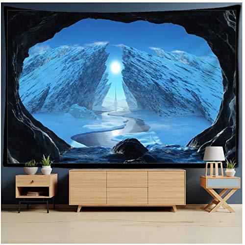 KBIASD Mandala Galaxy Celestial Body Universe Tapiz Colgante de Pared Toalla de Playa Manta Decoración Alfombra Colgante Decoración psicodélica Bohemia 150x130cm